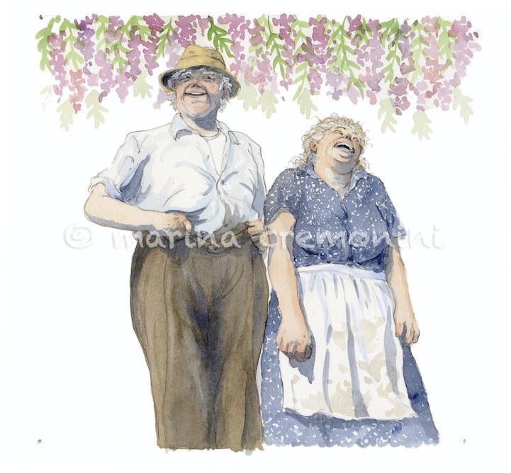 the month of april, granny's calendar