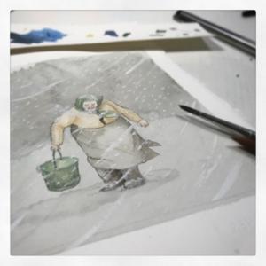 illustration for February