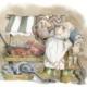 Gnomo pascivendolo, acquerello originale